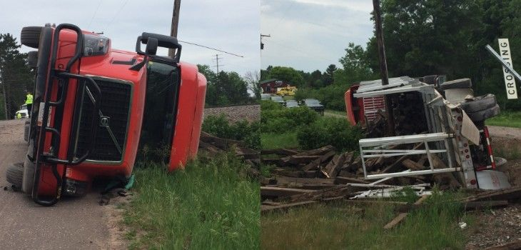 Semi Struck by Train in Washburn County