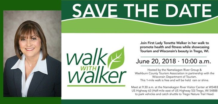 First Lady Travels To Trego For 'Walk With Walker' Event