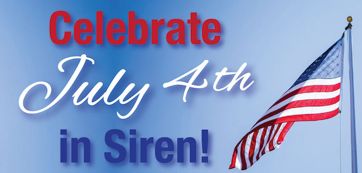 Siren's 4th of July Parade Grand Marshalls Rick and Jacky Anderson are 'Insuring our Freedom'!