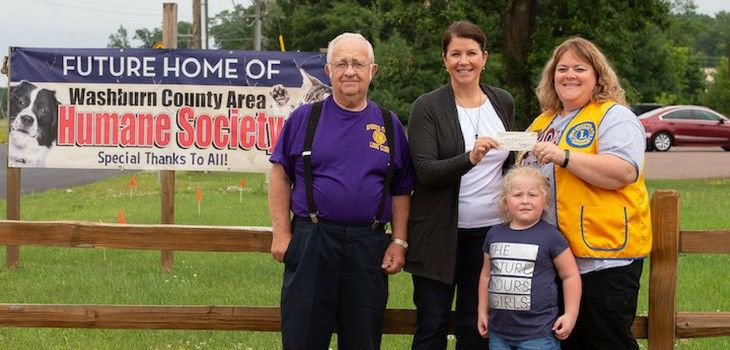 Spooner-Trego Lions Club Makes Large Donation to Washburn Co. Area Humane Society