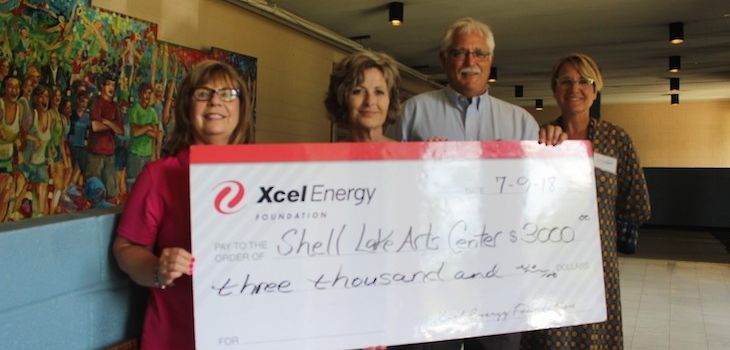 Xcel Energy Foundation Donates to the Shell Lake Arts Center
