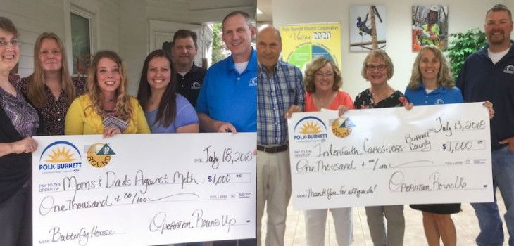 Polk-Burnett's Operation Round Up Donates $18,165 to 24 Local Programs
