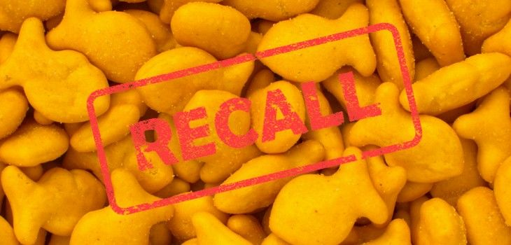 Four Varieties of Goldfish Crackers Recalled for Salmonella Risk