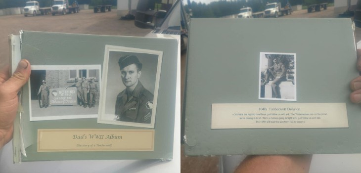 WWII Memory Book Found on HWY 70