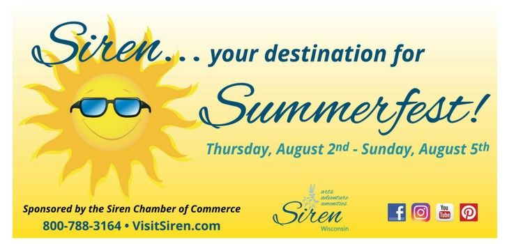 Siren's Annual Summerfest Weekend is Filled with Fun for the Whole Family!