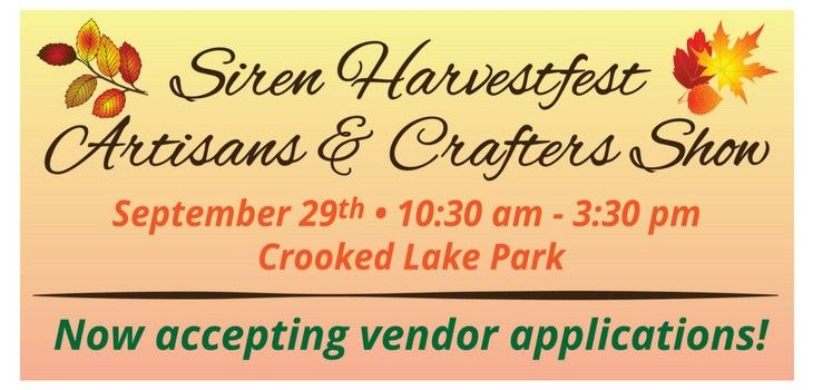 Artisans & Crafters Invited to Apply for Siren Harvestfest Show!