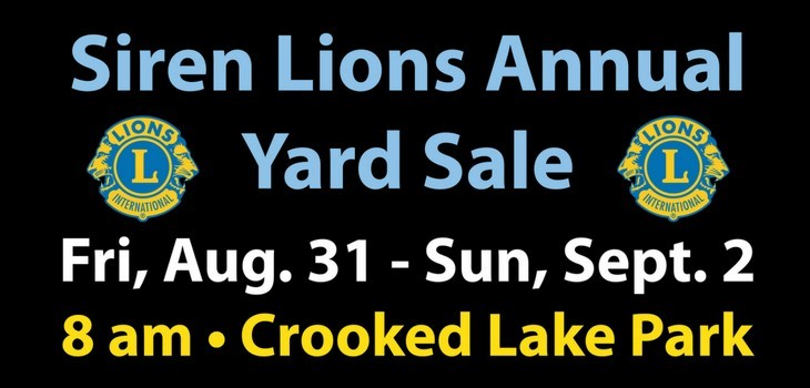 It's Time for the Annual Siren Lions Yard Sale!