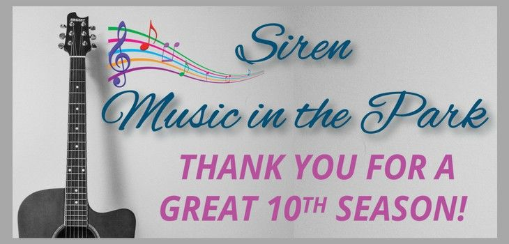 Siren's Music in the Park Season a Success!