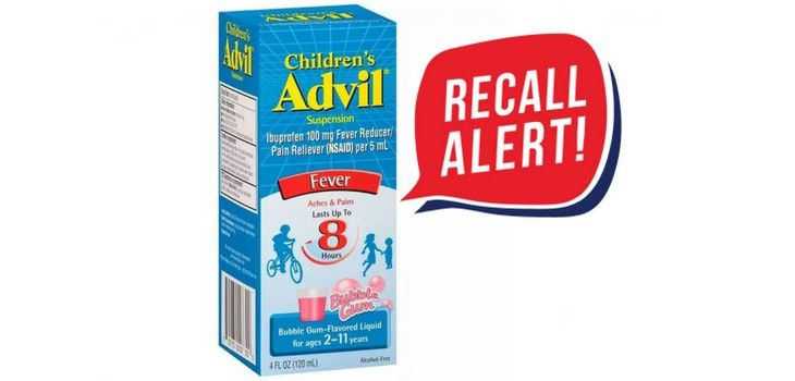 Children's Bubble Gum Flavored Advil Recalled Due to Overdose Concerns