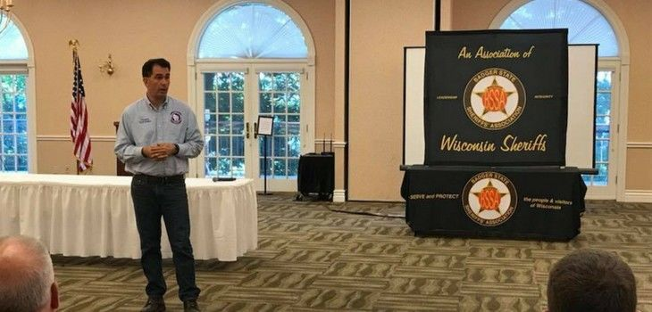 Governor Walker Thanks Law Enforcement at Annual Badger State Sheriffs' Association Meeting