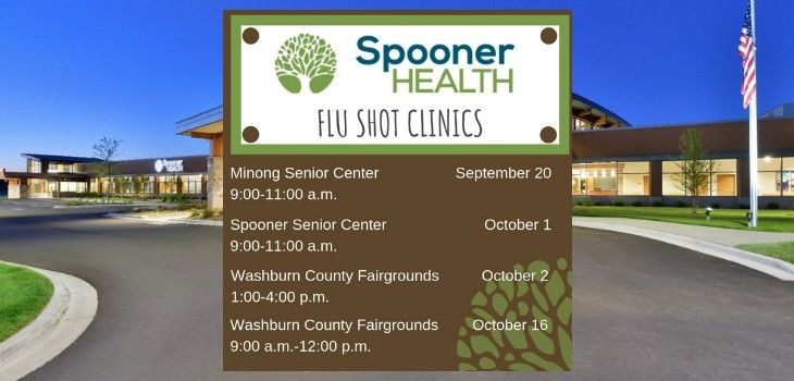 Community Flu Shot Clinics Scheduled in Spooner and Minong