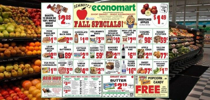 'Fall Specials' - This Week's Great Deals from Schimtz's Economart!