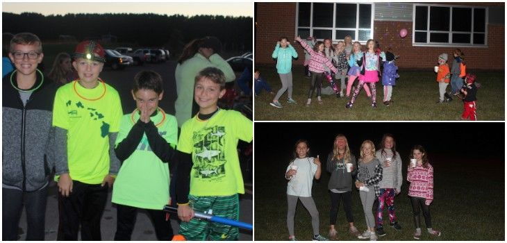 Spooner PTA's Glow Run Lights Up the Night