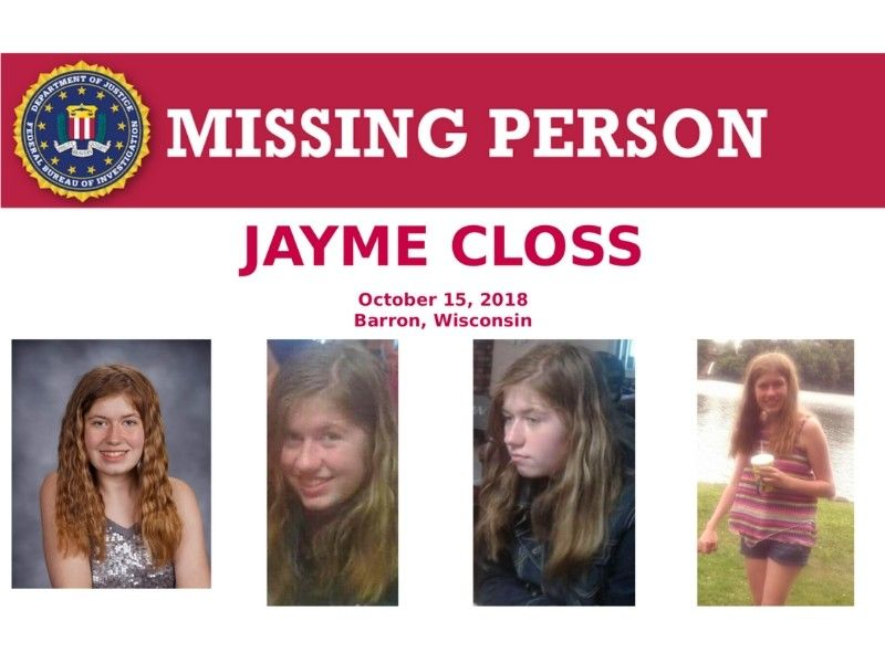 FBI Expands Search for Jayme Closs to Nationwide