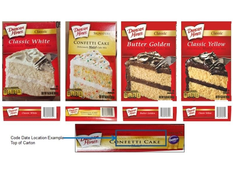 FDA Investigating Recalled Duncan Hines Cake Mixes Potentially Linked to Salmonella