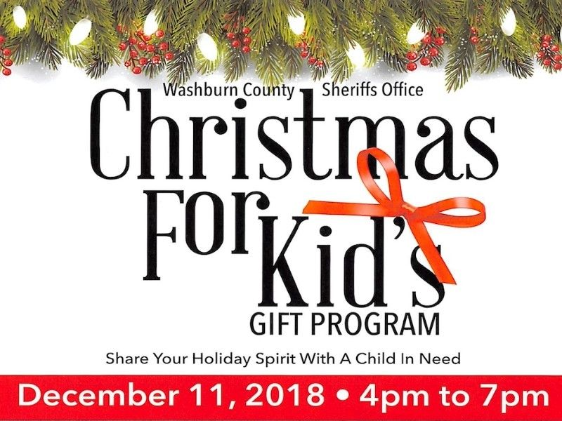 Tickets Now Available for Annual Washburn Co. Sheriff's Office 'Christmas for Kids' Dinner