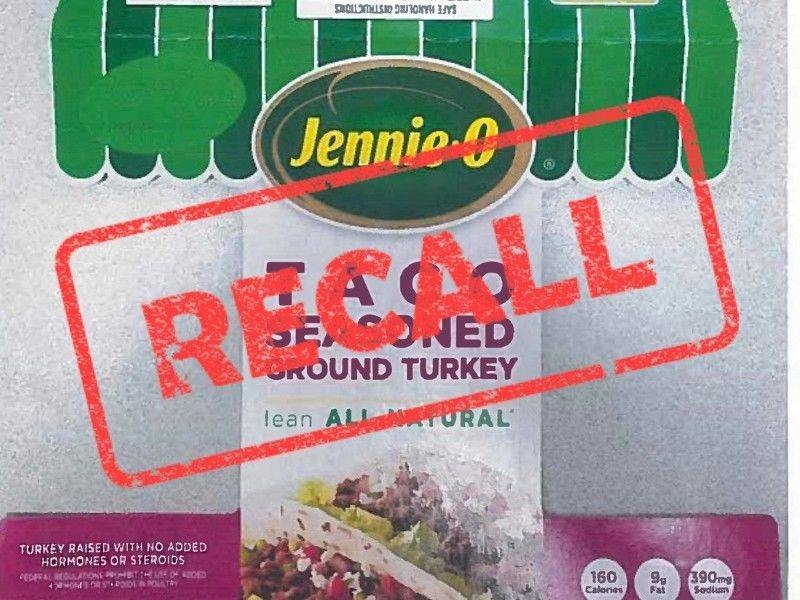 Jennie-O Turkey Store Recalls Raw Ground Turkey Products Due To Possible Salmonella