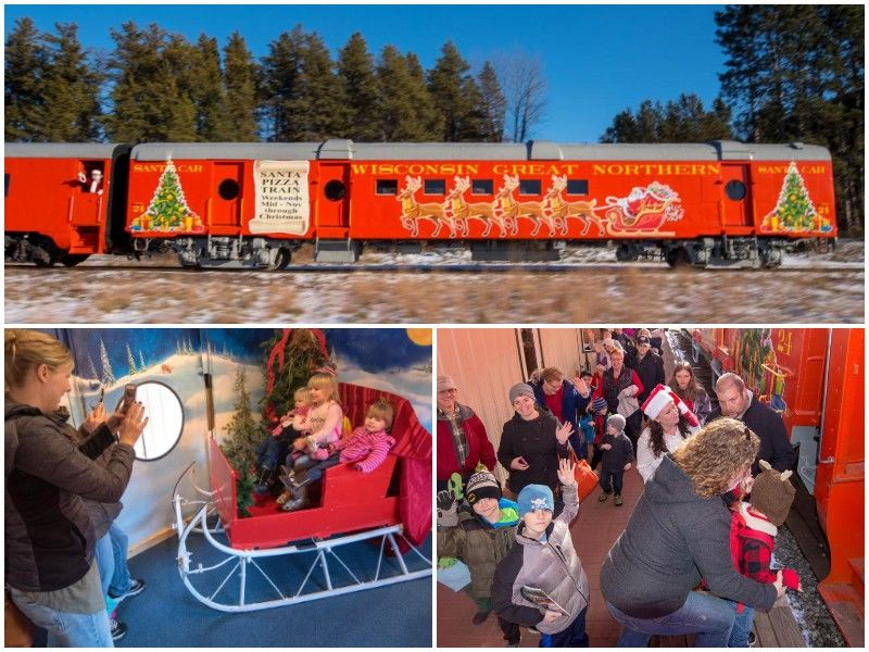 Wisconsin Great Northern Railroad Debuts Santa Car