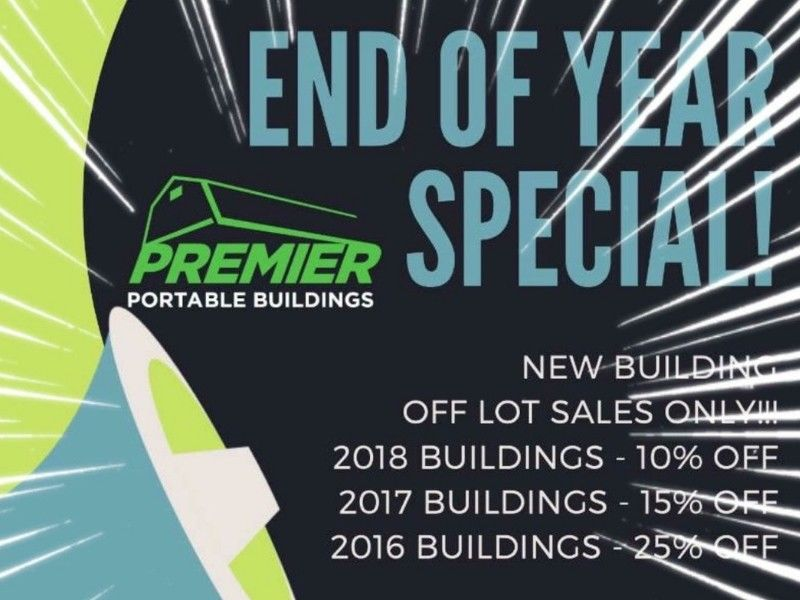 Premier Building End Of Year Clearance Going On Now!