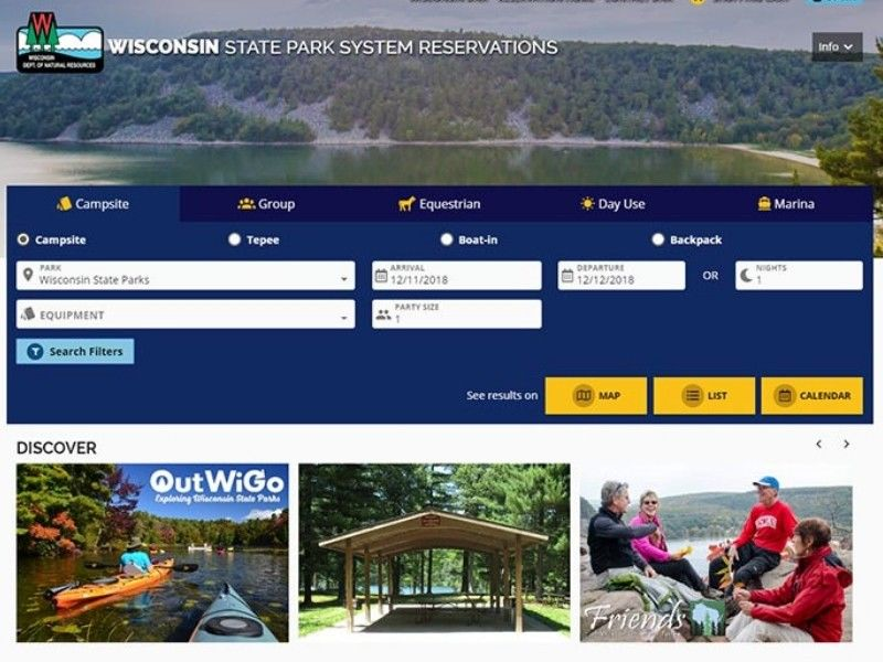 The New Wisconsin State Park System Reservation Website Will Go Live On Dec. 14
