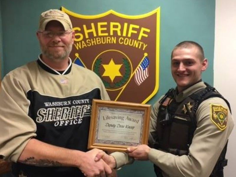 Washburn County Sheriff's Deputy Receives Life Saving Award