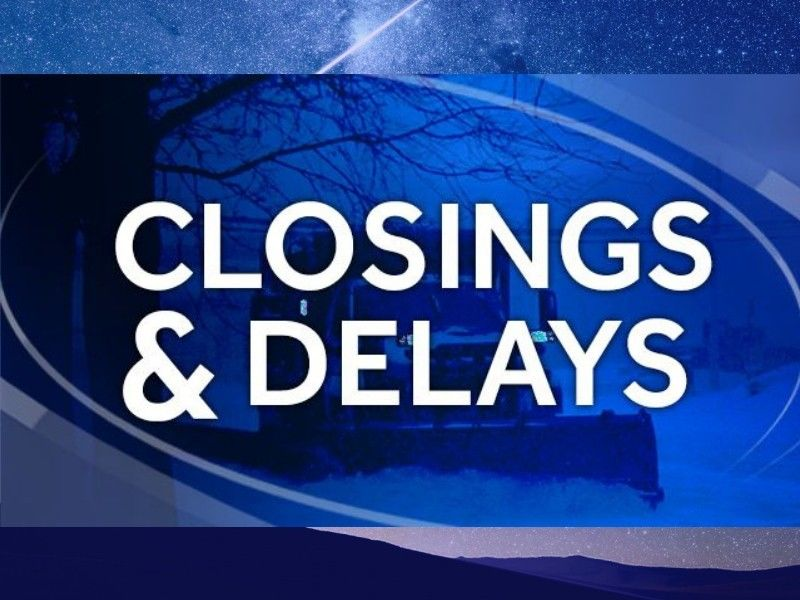 School Closings And Delays For Wednesday, February 13, 2019