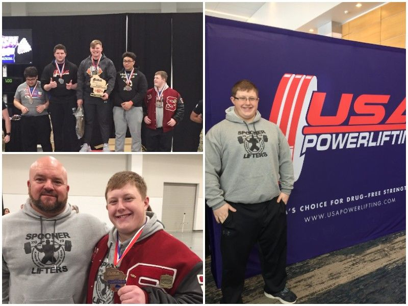 Spooner Sophomore Cole Cook Competes At State High School Powerlifting Finals