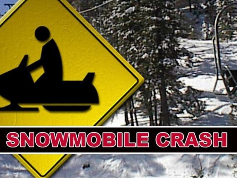 Snowmobiler Transported to Hospital After Crashing Into Bridge