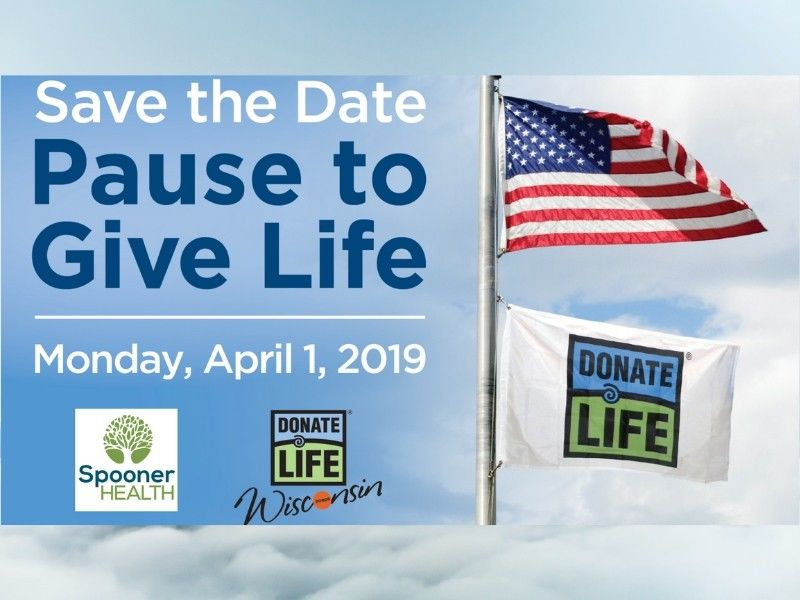 Save The Date: 'Pause To Give Life' - Monday April 1st